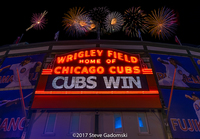 Cubs Win Fireworks Night