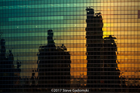 Reflected Sunset 333 North Wacker Chicago
