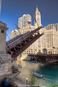 Michigan Avenue Bridge Lift Chicago