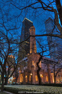 Chicago Water Tower Dusk