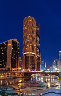 Marina City On The Chicago River